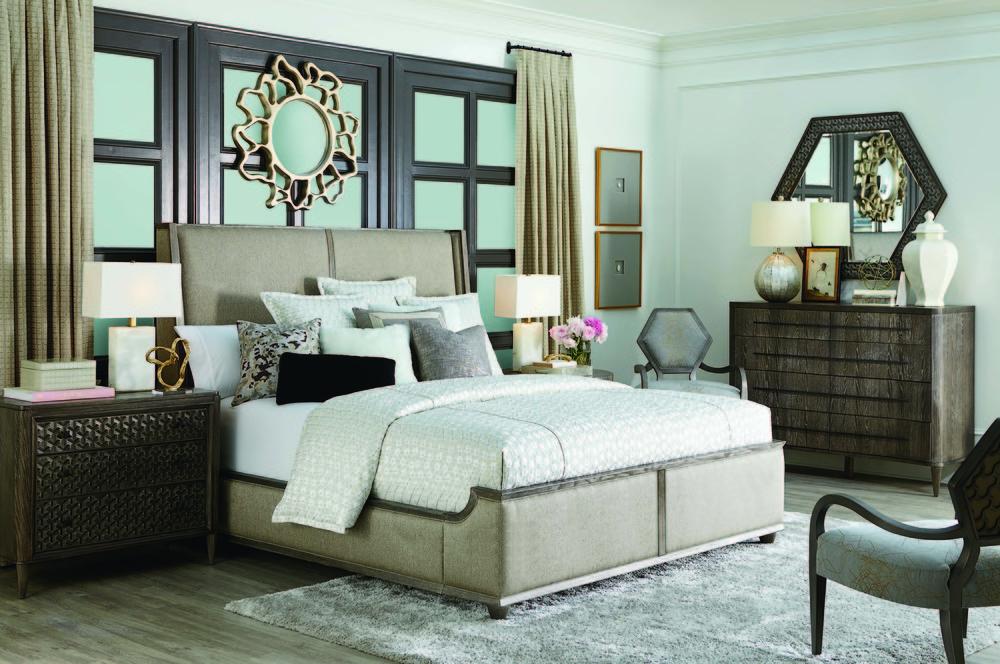 A.R.T. Furniture - King Upholstered Platform Bed
