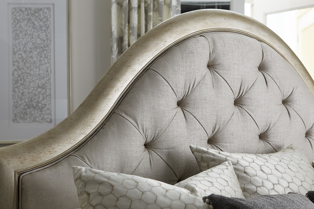 A.R.T. Furniture - King Upholstered Panel Bed with Storage