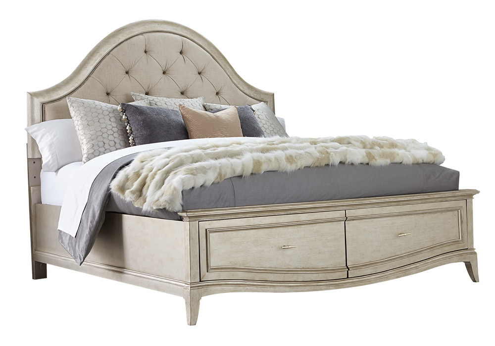 A.R.T. Furniture - California King Upholstered Panel Bed with Storage