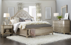 Thumbnail of A.R.T. Furniture - California King Upholstered Panel Bed with Storage