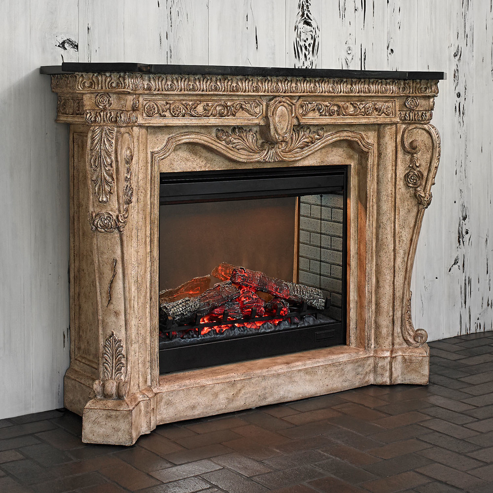Ambella Home Collection - Floral Electric Fireplace