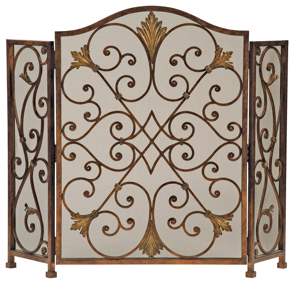 Ambella Home Collection - Rockefeller 3 Panel Fireplace Screen