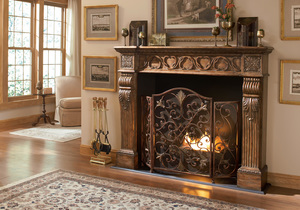 Thumbnail of Ambella Home Collection - Rockefeller 3 Panel Fireplace Screen