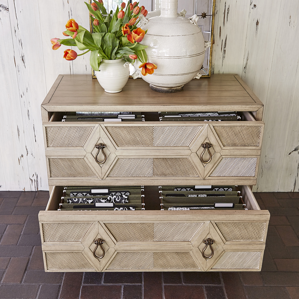 Ambella Home Collection - Diamond 2 Drawer Cabinet