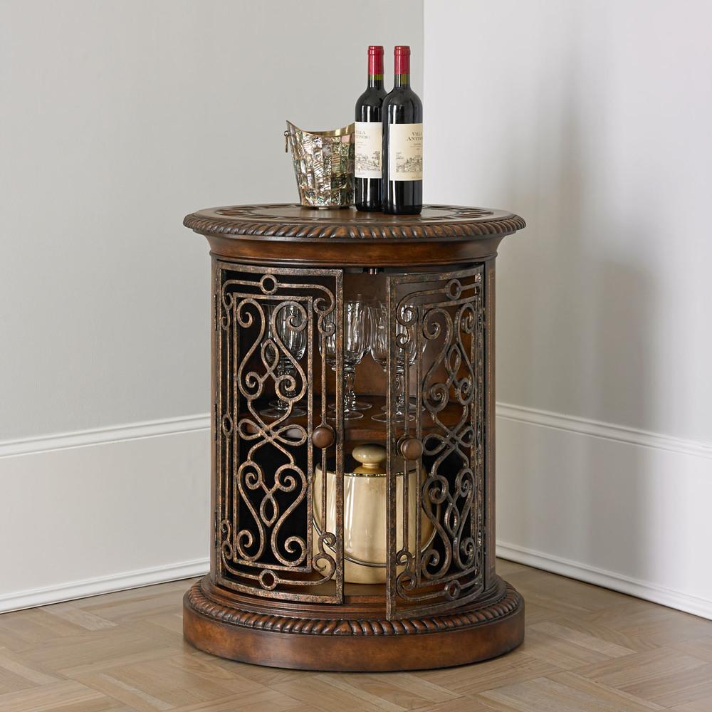Ambella Home Collection - Villa de Medici Oval Door Cabinet