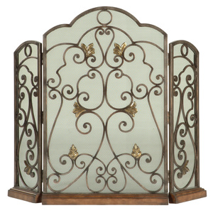 Thumbnail of Ambella Home Collection - Scrolled Iron 3 Panel Fireplace Screen