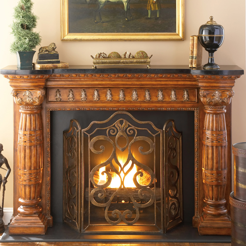 Ambella Home Collection - Tiger Lily 3 Panel Fireplace Screen