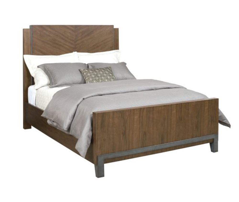 American Drew - Chevron Queen Walnut Bed