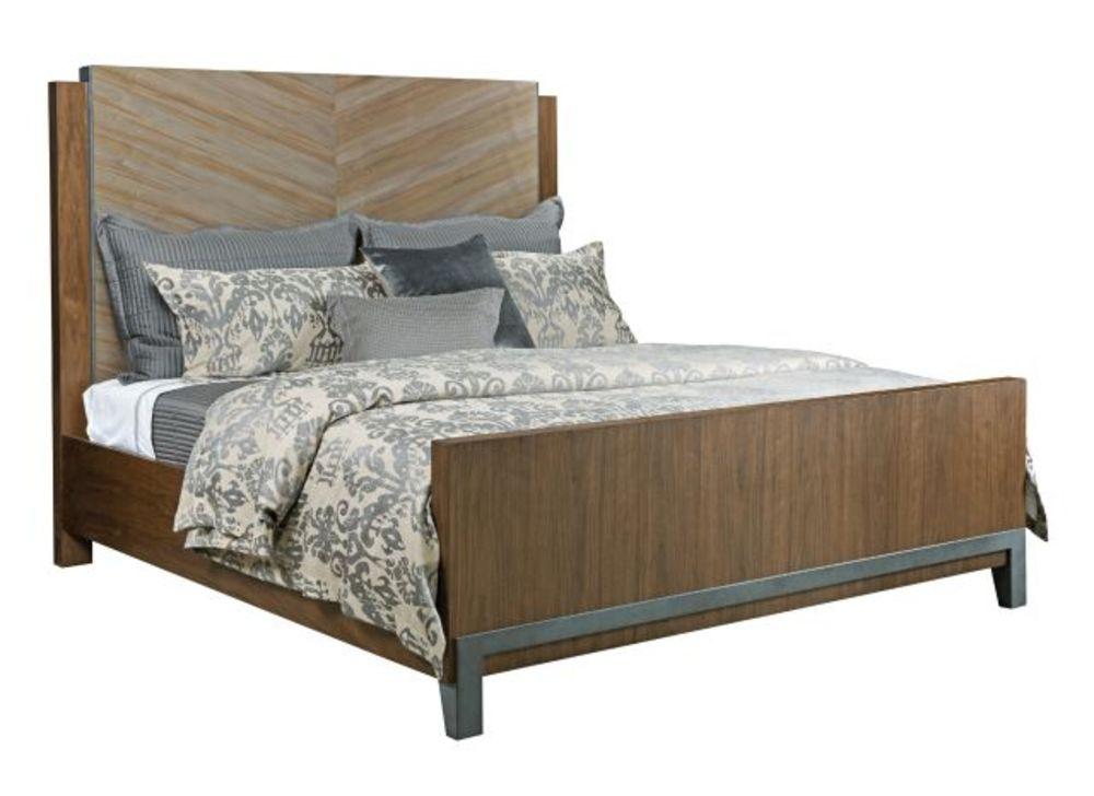 American Drew - Chevron Cal King Walnut Bed