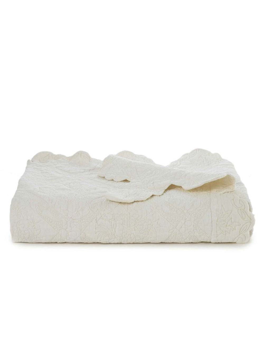 Amity Imports - Zella King Quilt in White