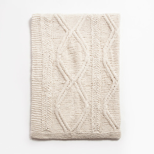 Thumbnail of Amity Imports - Brody Knitted Cotton Throw in Natural
