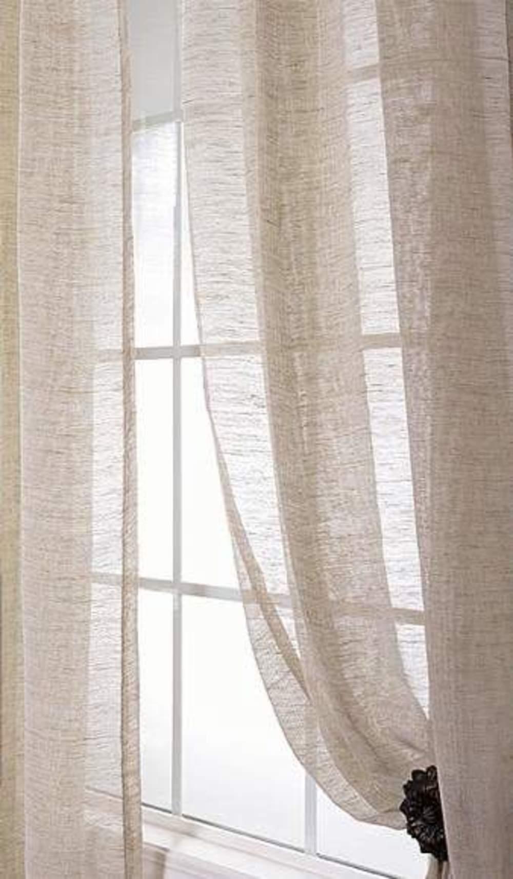 Amity Imports - Damara Ivory Linen Curtains