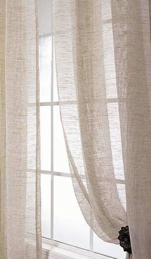 Thumbnail of Amity Imports - Damara Ivory Linen Curtains