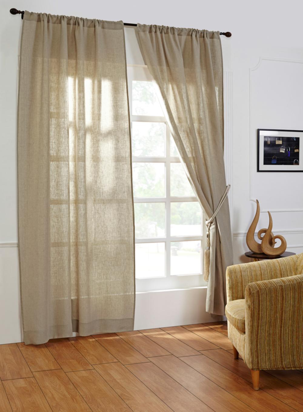 Amity Imports - Damara Natural Linen Curtains