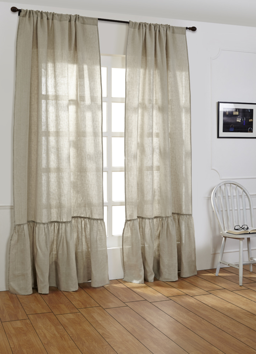Amity Imports - Caprice Natural Linen Curtains