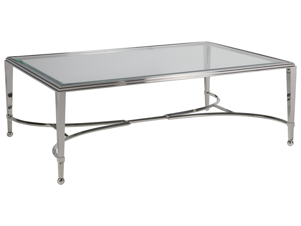 Artistica Home - Sangiovese Rectangular Cocktail Table with Glass Top