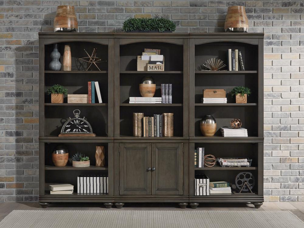 Aspenhome - Oxford Door Bookcase, Combo File, and Open Bookcase