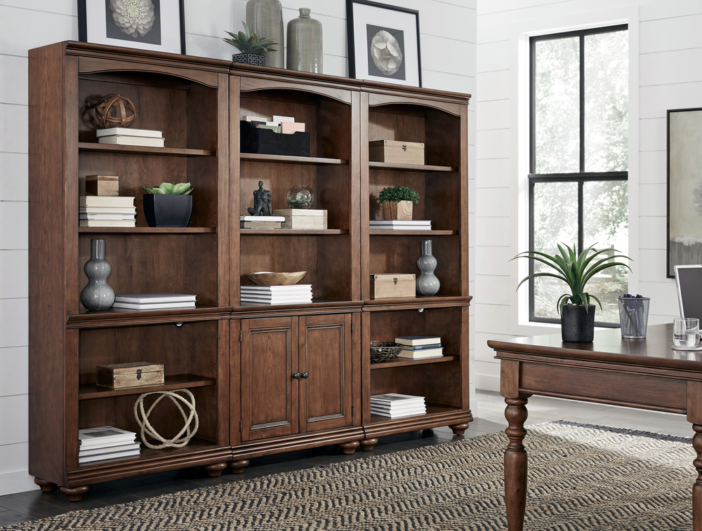 Aspenhome - Oxford Open Bookcases and Door Bookcase