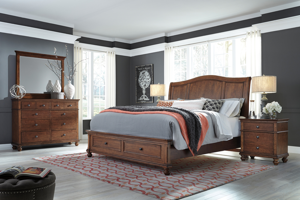 Aspenhome - Oxford King Sleigh Storage Bed