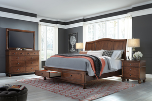 Thumbnail of Aspenhome - Oxford King Sleigh Storage Bed