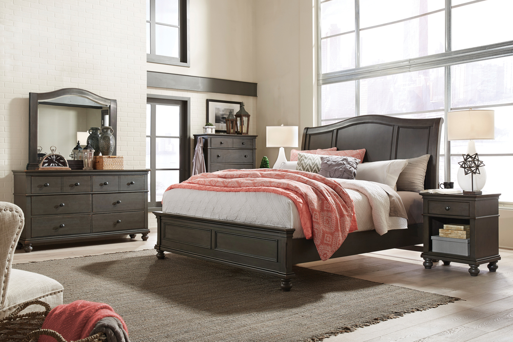 Aspenhome - Oxford King Sleigh Bed