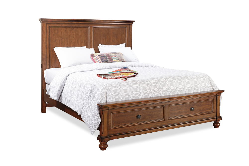 Aspenhome - Oxford Queen Panel Storage Bed