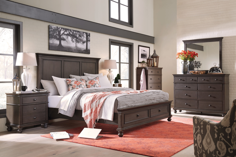 Aspenhome - Oxford King Panel Storage Bed