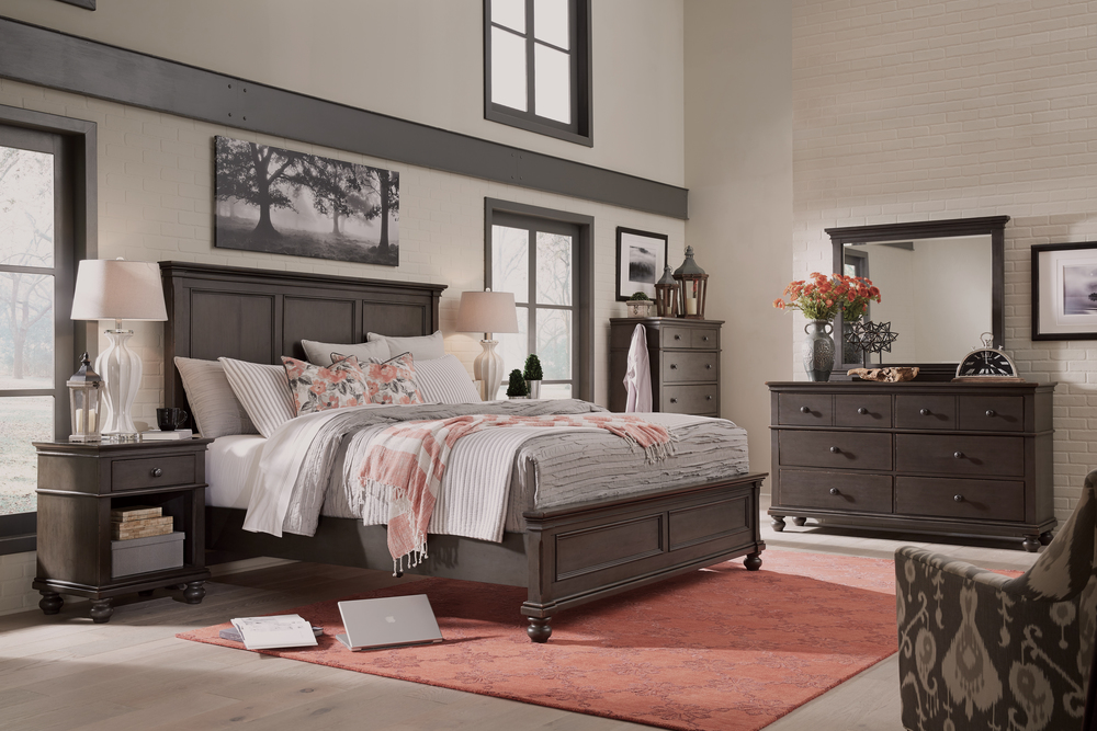 Aspenhome - Oxford King Panel Bed