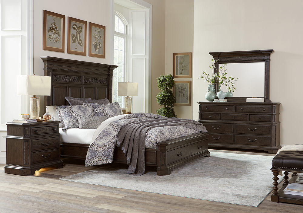 Aspenhome - Foxhill King Estate Panel Storage Bed