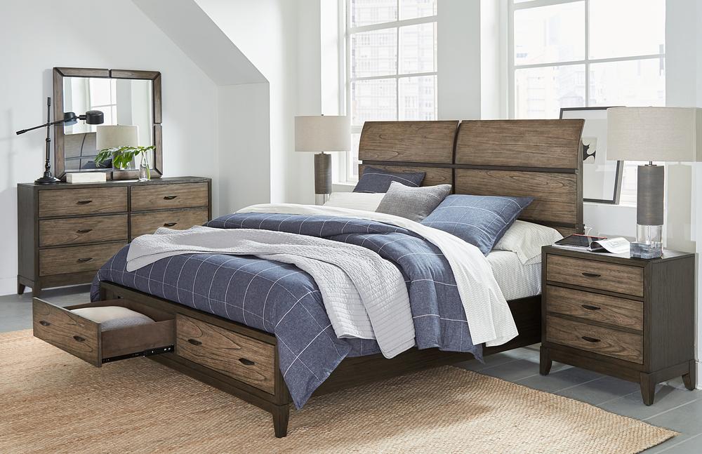 Aspenhome - Westlake King Sleigh Storage Bed