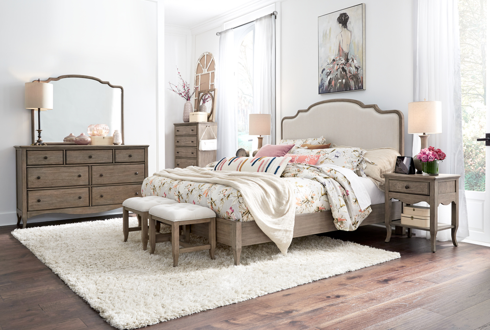 Aspenhome - Provence King Upholstered Bed