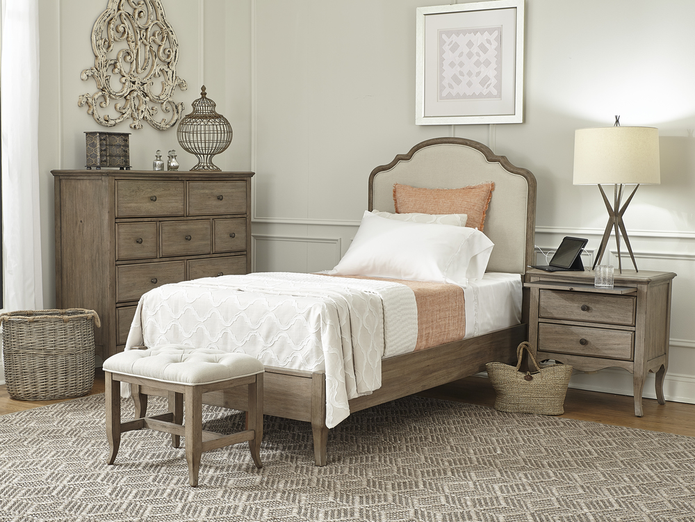 Aspenhome - Provence Twin Upholstered Bed