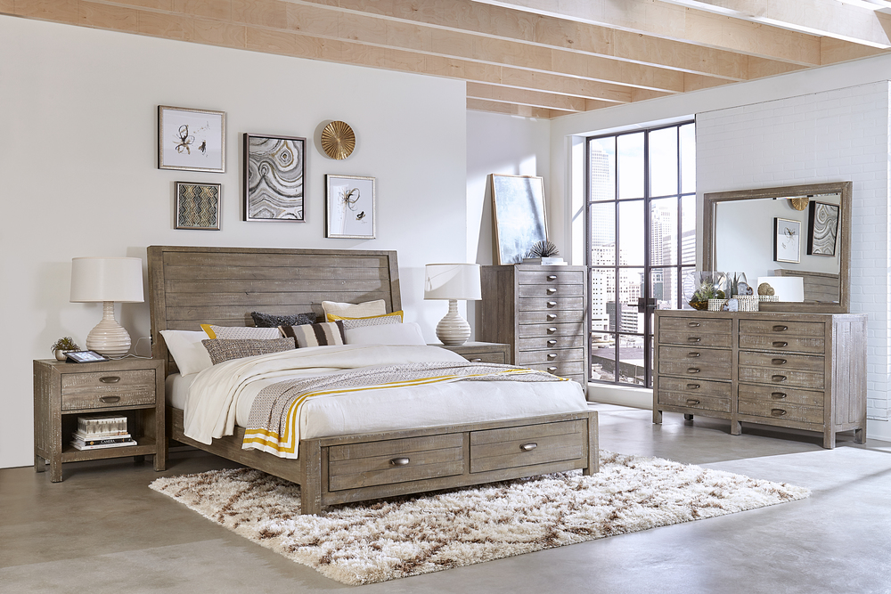 Aspenhome - Radiata King Sleigh Storage Bed