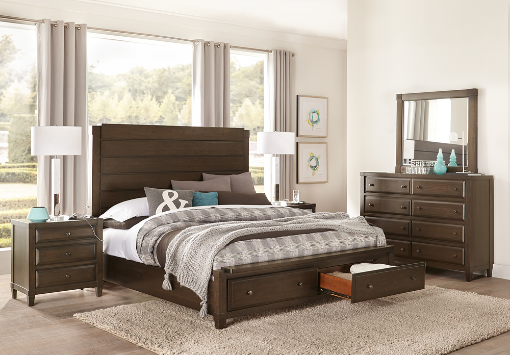 Aspenhome - Easton King Panel Storage Bed