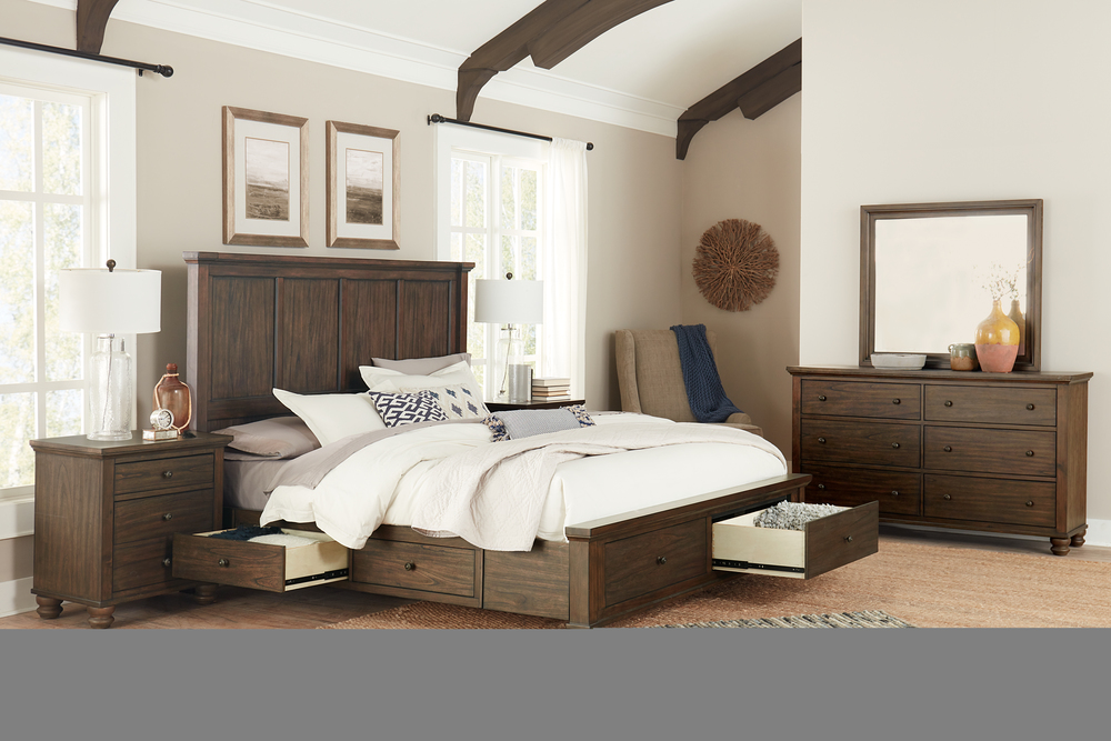 Aspenhome - Hudson Valley King Panel Storage Bed