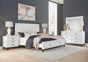 Thumbnail of Aspenhome - Hyde Park King Painted Panel Storage Bed