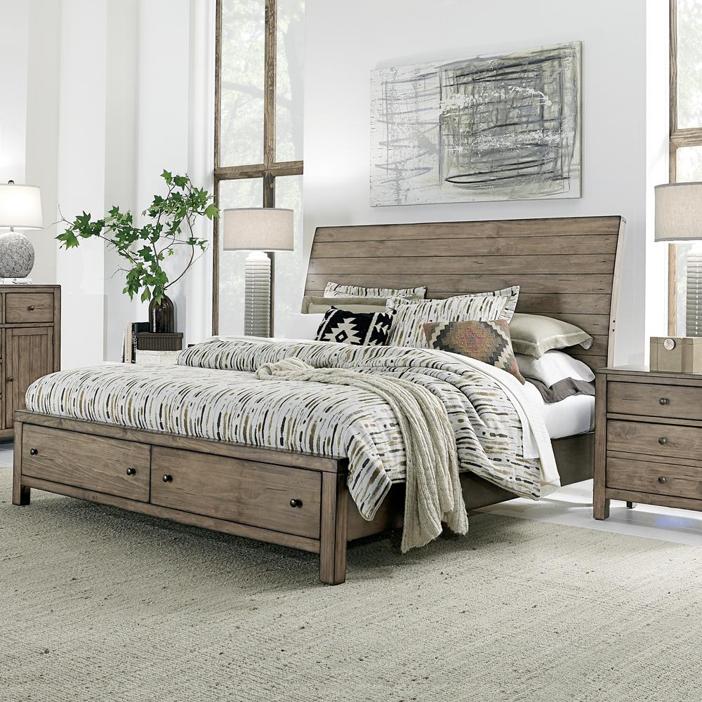 Aspenhome - Tildon King Sleigh Storage Bed