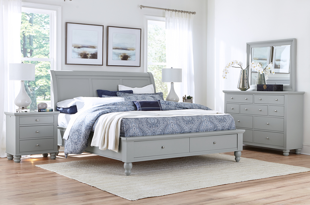 Aspenhome - Cambridge King Sleigh Storage Bed