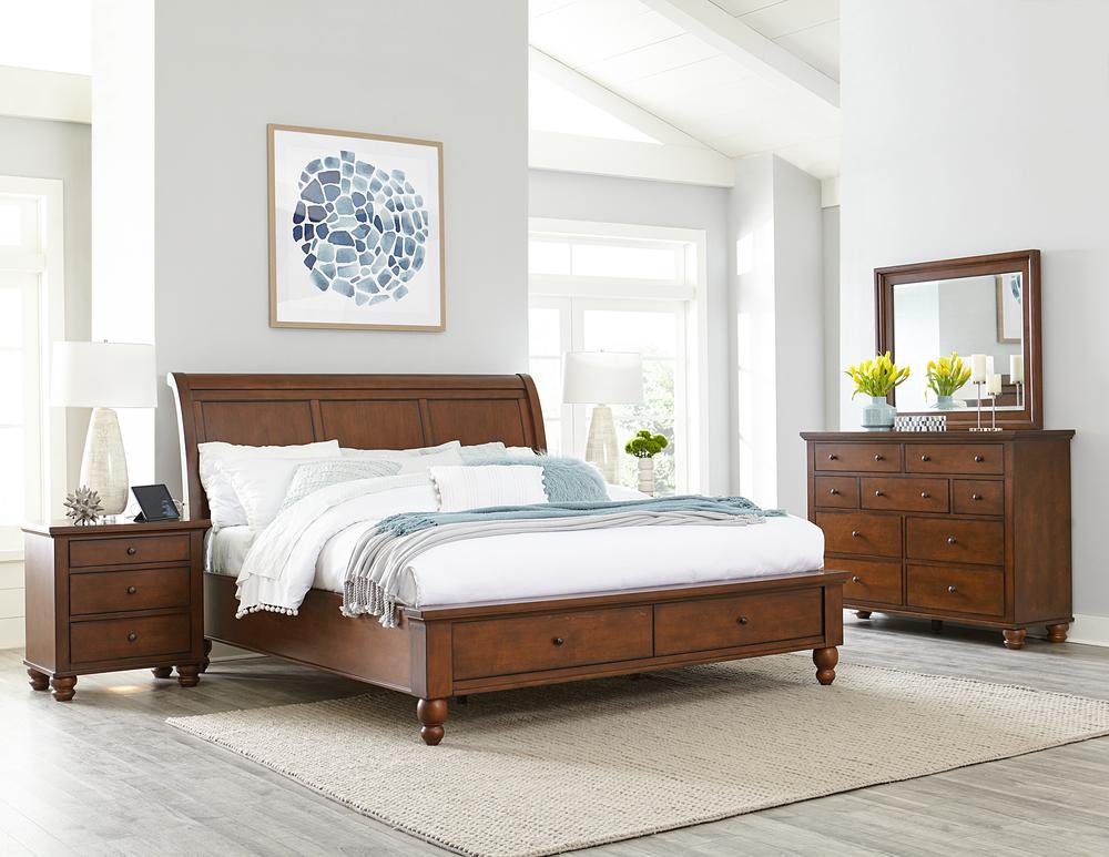 Aspenhome - Cambridge King/California King Sleigh Storage Bed