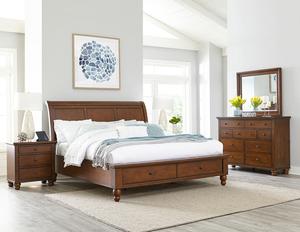 Thumbnail of Aspenhome - Cambridge King/California King Sleigh Storage Bed