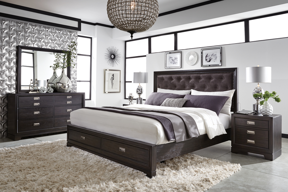 Aspenhome - Front Street King Upholstered Bed