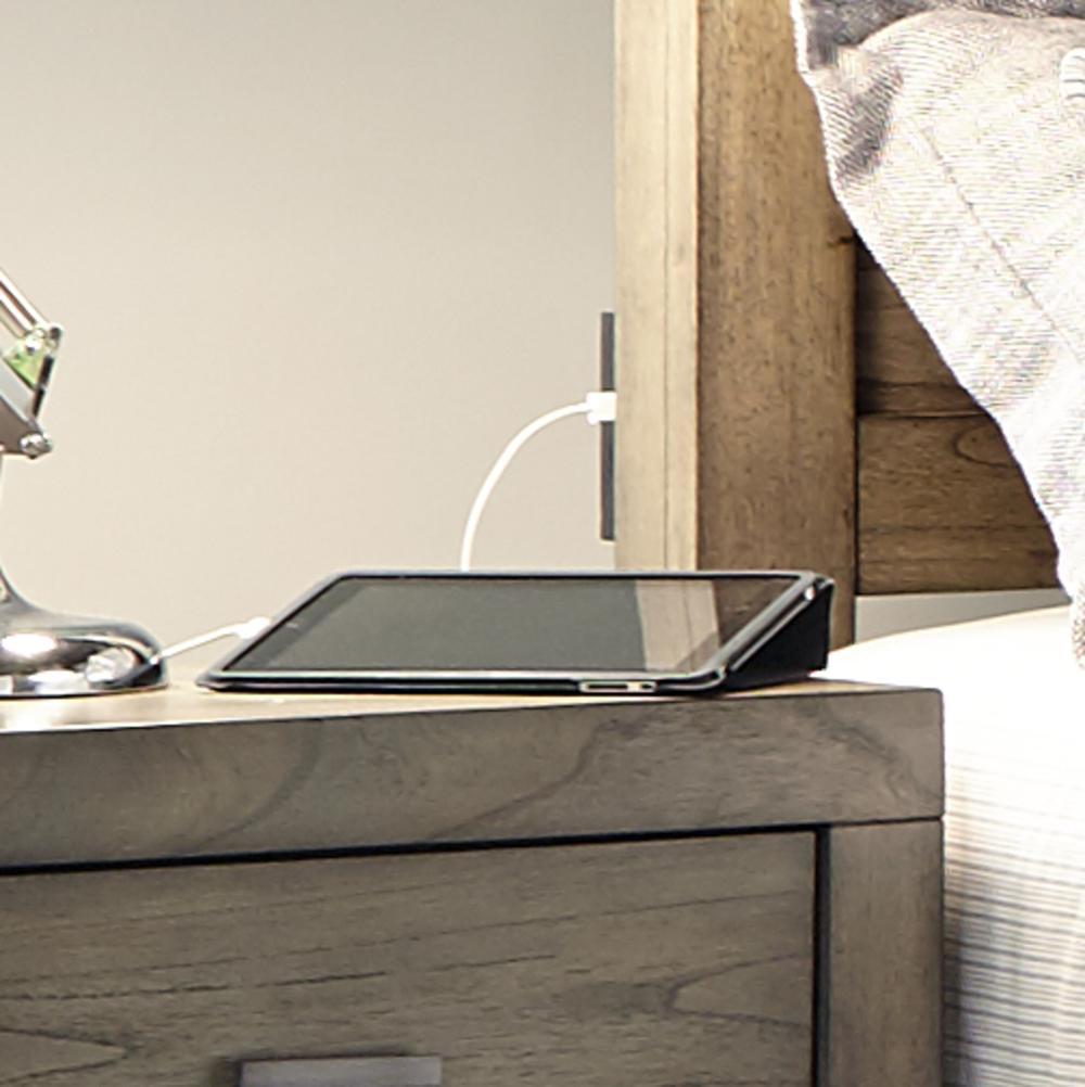 Aspenhome - Modern Loft King Panel Bed