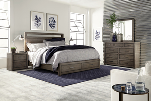 Thumbnail of Aspenhome - Modern Loft King Panel Storage Bed
