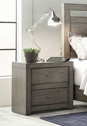 Thumbnail of Aspenhome - Modern Loft Two Drawer Night Stand with Power