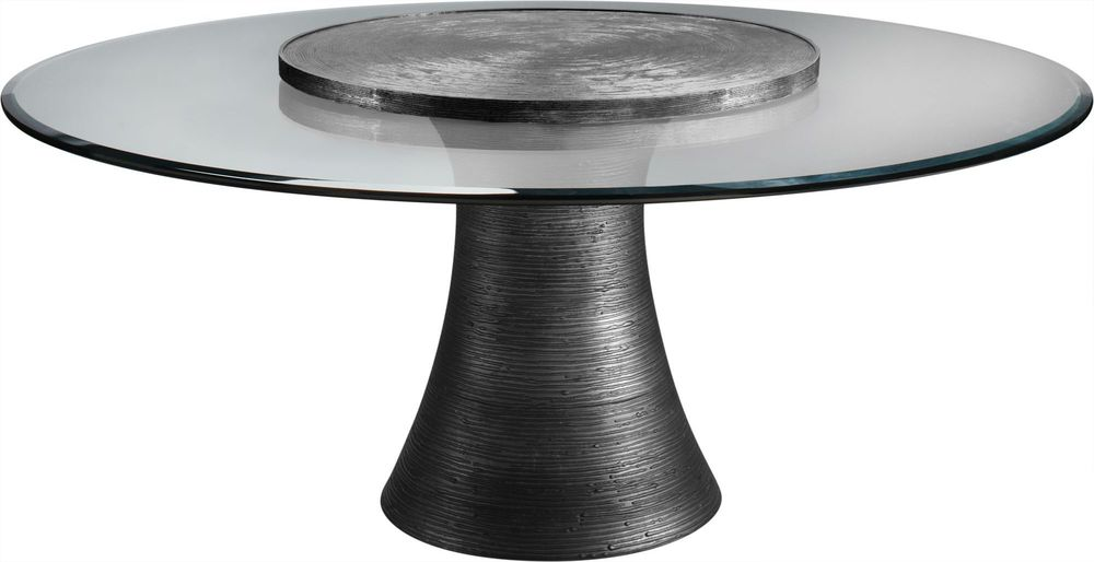 """Baker Furniture - Katoucha 72"""" Dining Table w/36"""" Lazy Susan"""