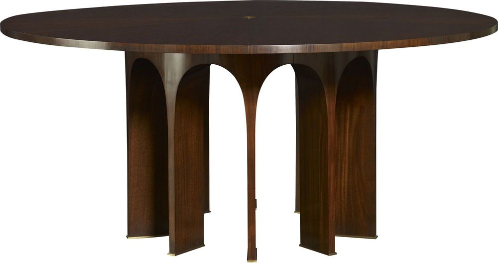 """Baker Furniture - 67"""" Wood Top Arcade Dining Table"""