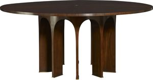 """Thumbnail of Baker Furniture - 67"""" Wood Top Arcade Dining Table"""