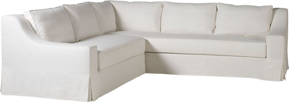 Baker Furniture - Lax Skirted Sectional One Arm Chaise (L/R)