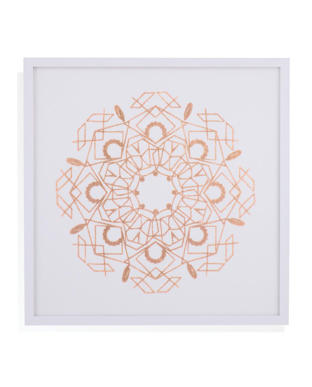 Bassett Mirror Company - Rose Foil Mandala IV