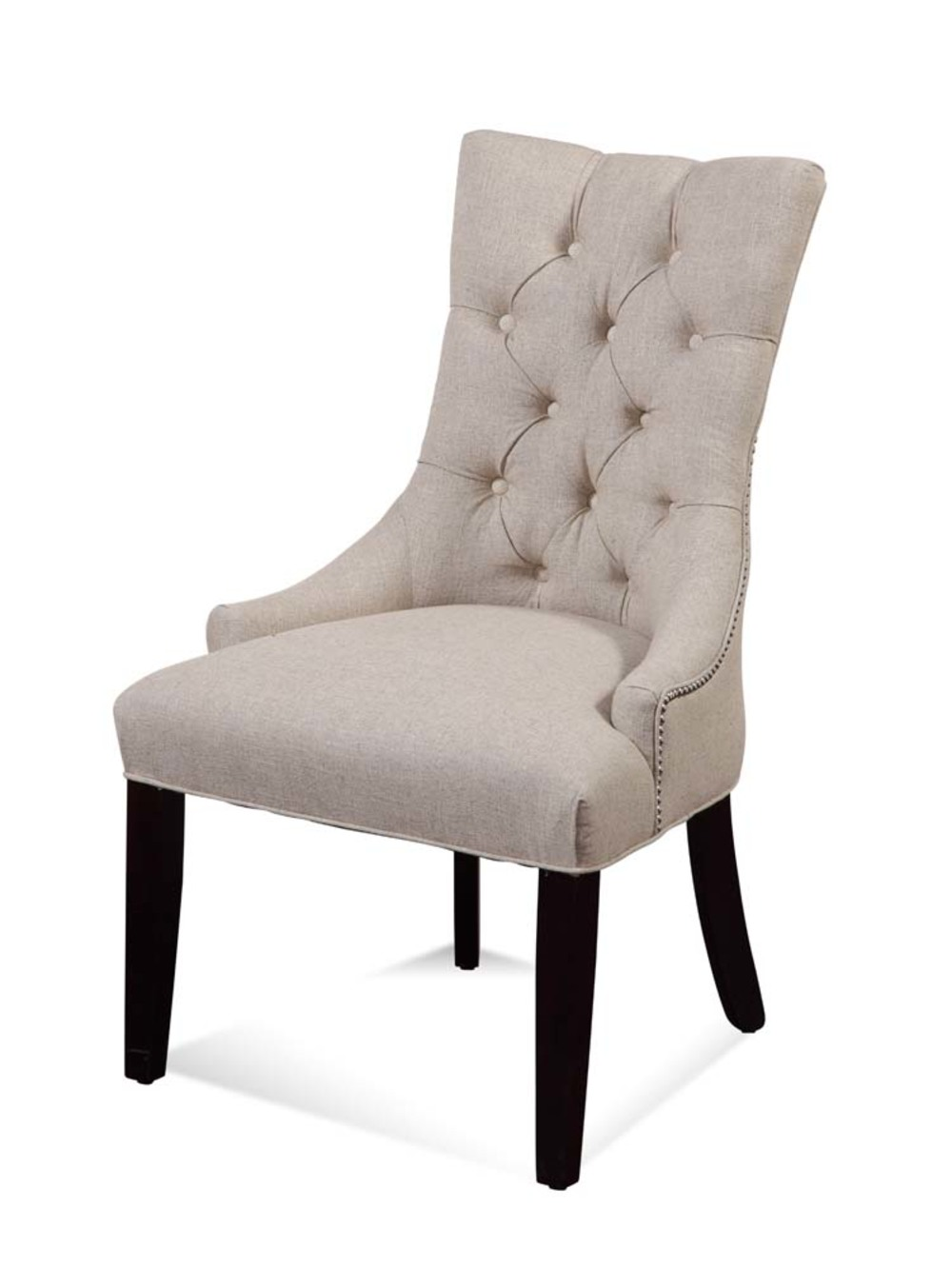 Bassett Mirror Company - Fortnum Tufted Nailhead Parson Side Chair
